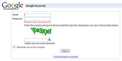 Google CRAPTCHA