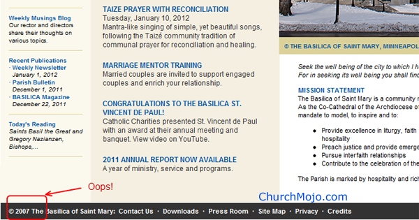 Mary.org's great site needs to fix that 2007 copyright date.