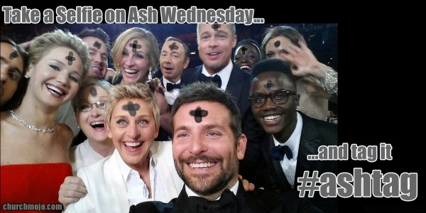 Selfie on Ash Wednesday? It's an #Ashtag