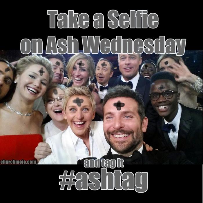 Selfie on Ash Wednesday = #Ashtag