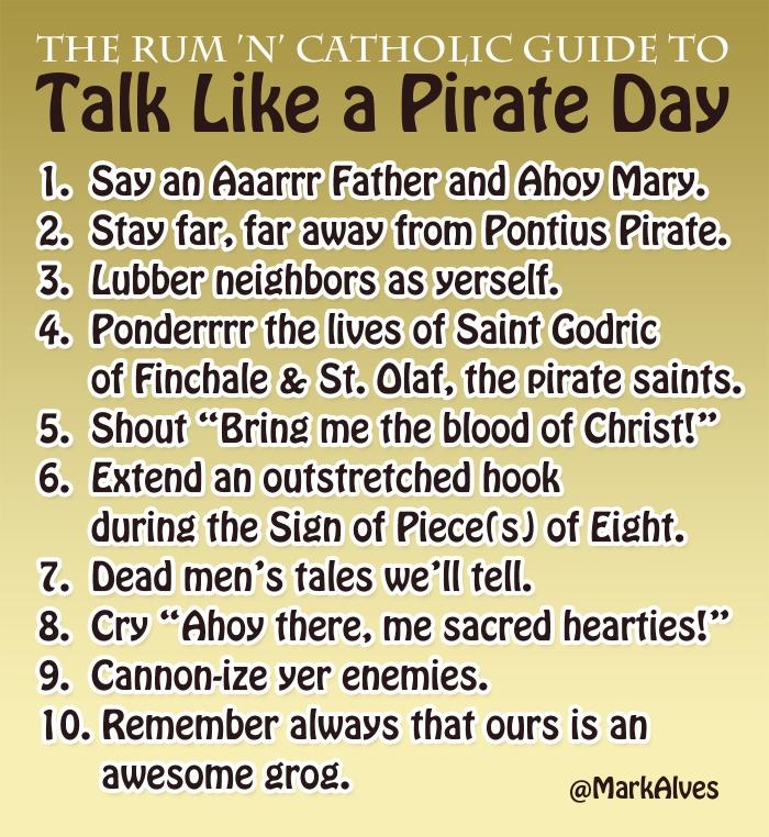 Catholic Talk Like a Pirate Day