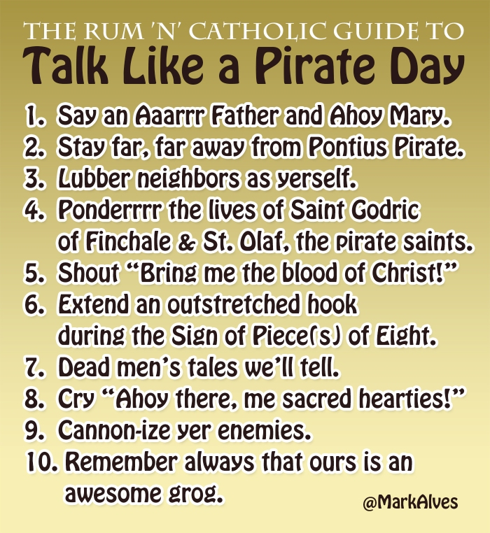 Catholic Talk Like a Pirate Day